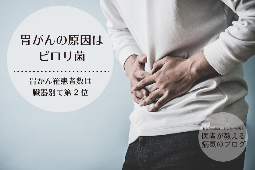 胃がんの原因はピロリ菌|胃がん罹患者数は臓器別で第2位