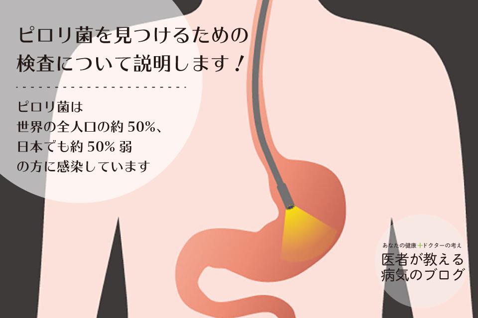 ピロリ菌を見つけるための検査について説明します!|ピロリ菌は世界の全人口の約50%、日本でも約50%弱の方に感染しています