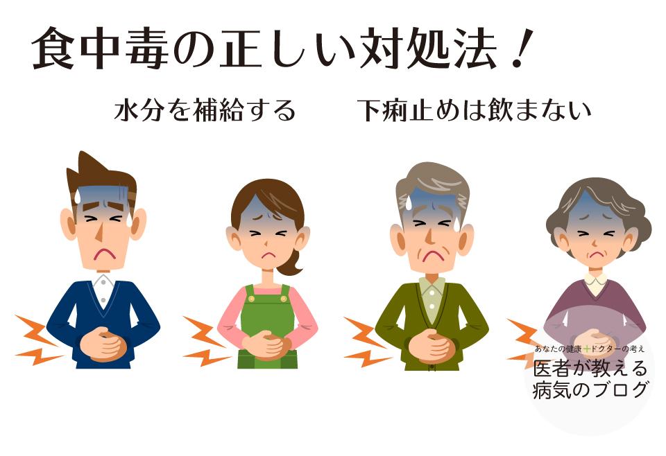 食中毒の正しい対処法|水分補給を補給する!下痢止めは飲まない!